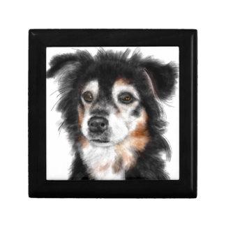 Caja De Regalo Perro blanco y negro
