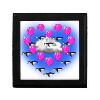 Caja De Regalo pingüinos de las tarjetas del día de San Valentín,