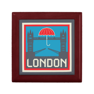 Caja De Regalo Puente de Londres con el paraguas