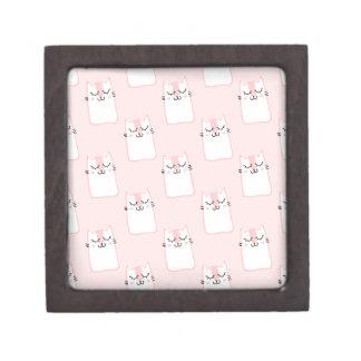 Caja De Regalo Regalo/joyero rosados del gatito el dormir