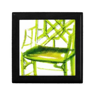 Caja De Regalo silla del chinoiserie para la tarjeta del lugar