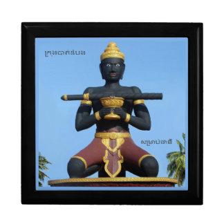 Caja De Regalo Ta Dumbong Statue, Battambang, Cambodia (private)