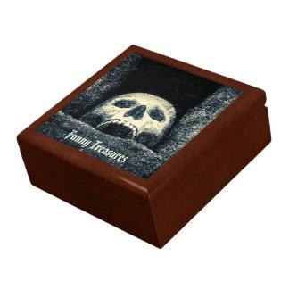 Caja De Regalo Tesoros divertidos del cofre del tesoro del cráneo