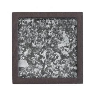 Caja De Regalo Tinta blanca en el fondo negro #1