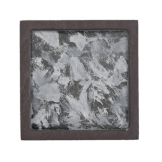 Caja De Regalo Tinta blanca en el fondo negro #5