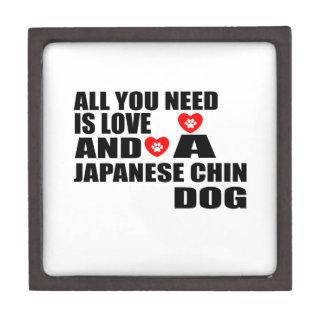 Caja De Regalo Todos usted necesita diseños de los perros de CHIN