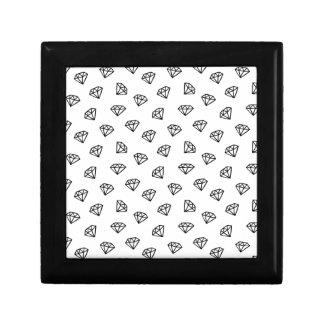 Caja De Regalo Versión blanco y negro del diamante
