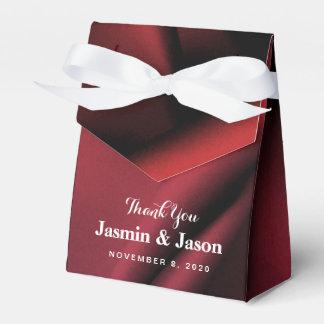 Caja de seda roja de encargo del favor del boda