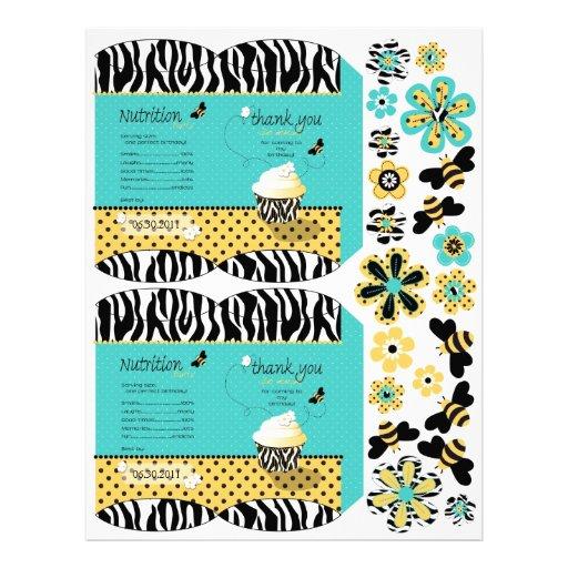 Caja de soplo del favor de fiesta de la abeja del  tarjeta publicitaria