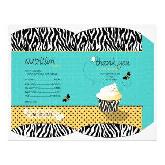 Caja de soplo del favor de fiesta de la abeja del folleto 21,6 x 28 cm