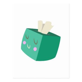 Caja de tejidos postal