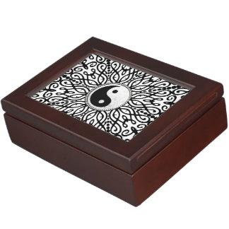Caja decorativa del recuerdo de BlackWhite YinYang Caja De Recuerdos