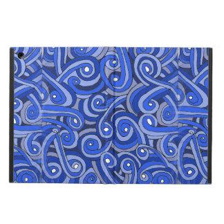 caja del aire del iPad con Doodles azules