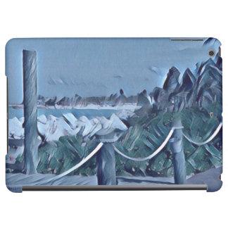 Caja del aire del iPad de los azules de la isla