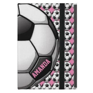 Caja del aire del iPad del diseño del fútbol iPad Mini Fundas