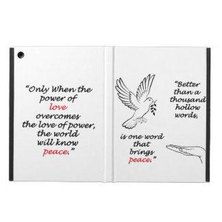 Caja del aire del iPad del pájaro de la paz sin Funda Para iPad Air