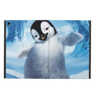 Caja del aire del iPad del pingüino que nieva