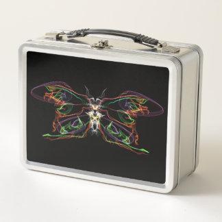 Caja del almuerzo clásica, mariposa grande