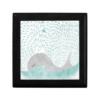"""Caja del amor de la ballena"" Joyero Cuadrado Pequeño"