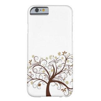 Caja del árbol del otoño funda de iPhone 6 barely there