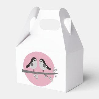 Caja del boda del regalo con los pájaros del amor