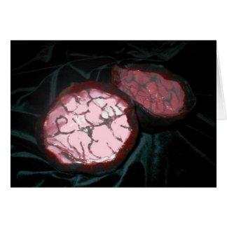 Caja del cerebro tarjeta de felicitación
