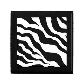 Caja del estampado de zebra caja de recuerdo