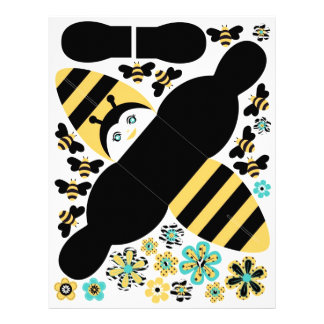 Caja del favor de fiesta de la abeja del cumpleaño folleto 21,6 x 28 cm