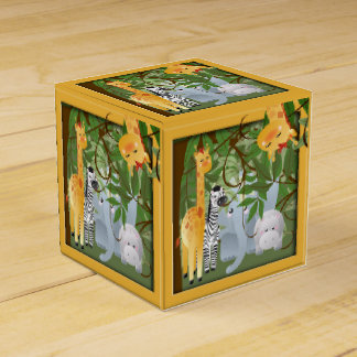 Caja del favor de fiesta de los animales del cajas para regalos