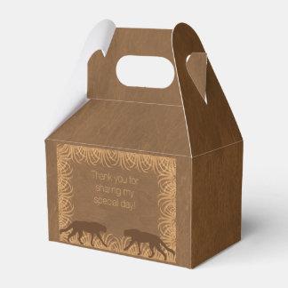 Caja del favor de fiesta del gato grande del tema cajas para regalos de boda