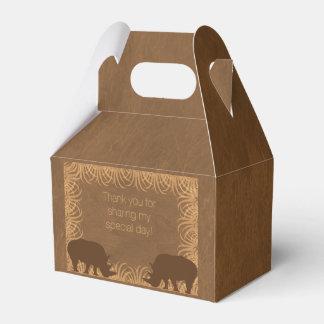 Caja del favor de fiesta del rinoceronte del tema