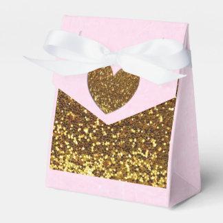 Caja del favor de fiesta del rosa y del caramelo