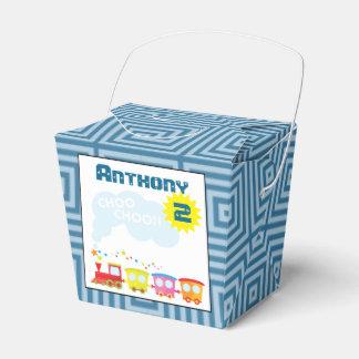 Caja del favor de la fiesta de cumpleaños del tren