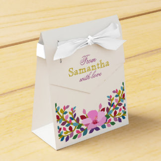 Caja del favor de la tienda del hibisco del
