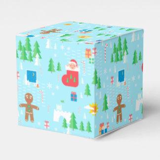 Caja del favor de las Felices Navidad