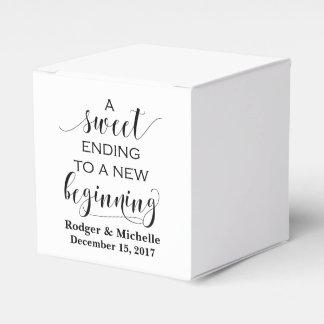 Caja del favor del boda - conclusión dulce al