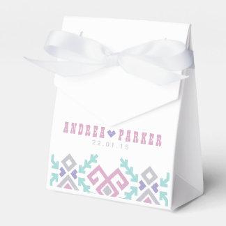Caja del favor del boda del destino de Ikat del