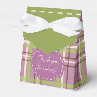 Caja del favor del boda del jardín del país