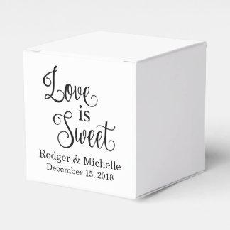 Caja del favor del boda - el amor es dulce