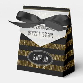 Caja del favor del oro del brillo BG01 y de fiesta