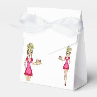 Caja del favor - torta de la porción del ama de