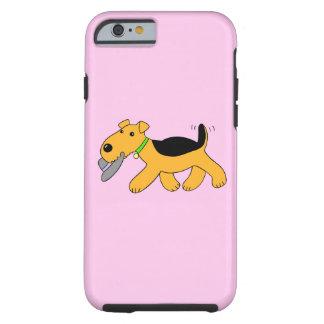 Caja del gorra iPhone6/6s del perro w de Airedale Funda Resistente iPhone 6