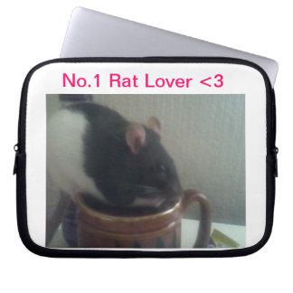 Caja del ordenador portátil del amante de la rata funda para ordenador