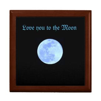 Caja del recuerdo con la luna azul