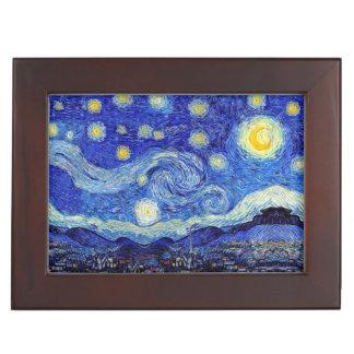 Caja del recuerdo de la noche estrellada
