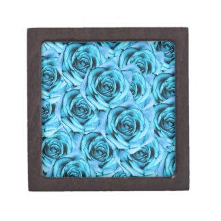 Caja del recuerdo de los rosas de los azules