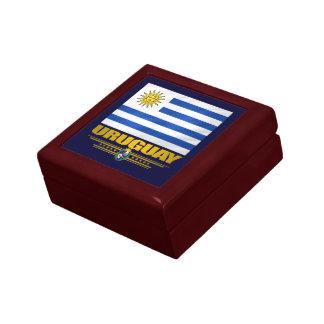 """""""Caja del recuerdo del orgullo de Uruguay"""" Joyero Cuadrado Pequeño"""