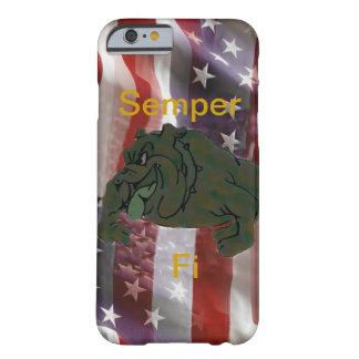 Caja del teléfono 5 de la bandera americana I del Funda De iPhone 6 Barely There