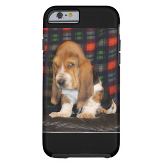 Caja del teléfono celular de Basset Hound Funda Resistente iPhone 6
