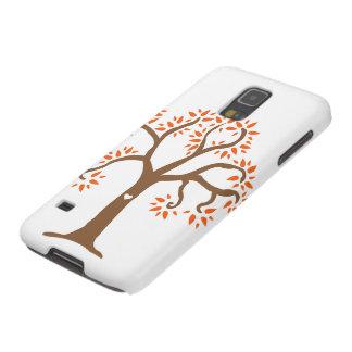 Caja del teléfono celular del árbol del otoño carcasa galaxy s5